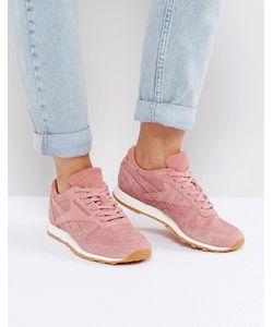 Reebok | Классические Кожаные Кроссовки Розового Цвета