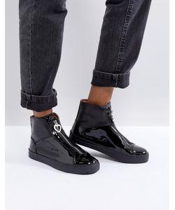 Love Moschino   Лакированные Ботинки На Молнии