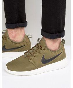 Nike | Зеленые Кроссовки Roshe Two 844656-200