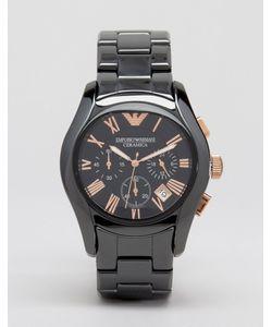 Emporio Armani | Черные Керамические Часы С Хронографом Ar1410 Черный