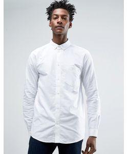 Weekday   Рубашка Классического Кроя Bad Times Белый