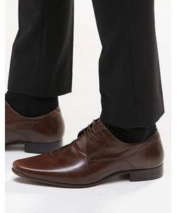 Asos | Кожаные Туфли Дерби Коричневая Кожа