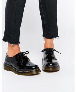 Dr. Martens | Черные Лакированные Туфли На Плоской Подошве Dr Martens 1461 Черный