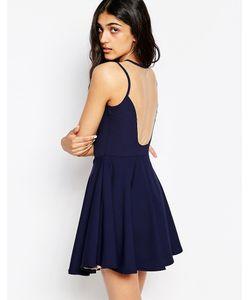 Lovestruck | Короткое Приталенное Платье С Сетчатой Спинкой Amber
