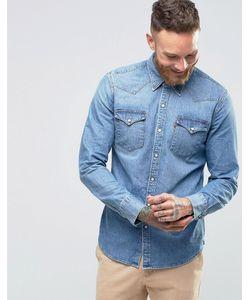 Levi's® | Cветлая Джинсовая Рубашка Слим В Стиле Вестерн Levis Barstow Redcast