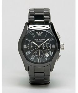 Emporio Armani | Черные Керамические Часы С Хронографом Ar1400 Черный