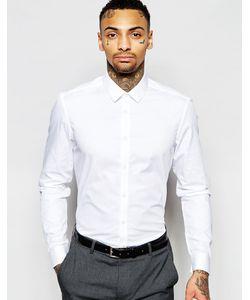 Asos | Рубашка Классического Кроя С Длинными Рукавами White Белый