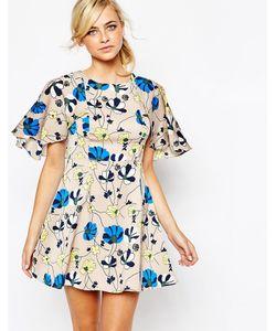 Dahlia | Платье-Кейп С Цветочным Принтом