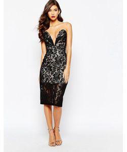 JARLO | Кружевное Платьебандо Astrid Черный