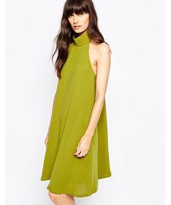Paisie | Свободное Платье С Высоким Воротом И Плиссировкой Сзади