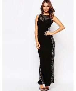 Little Black Dress | Платье Макси С Кружевными Вставками Sofia