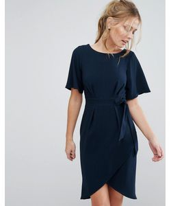 Closet London | Платье С Рукавамикимоно И Завязкой Спереди Closet Темно-Синий