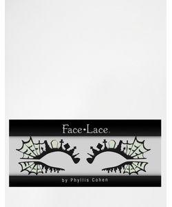 Facelace | Декор Для Глаз Черного И Неонового Цвета Face Lace Halloween Va