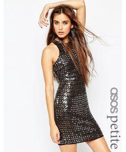 ASOS PETITE | Платье Мини С Декоративной Отделкой Premium Мульти