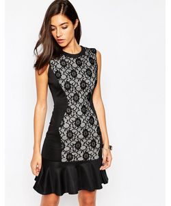 Little Black Dress | Платье С Кружевной Вставкой И Кромкойоборкой Dakot