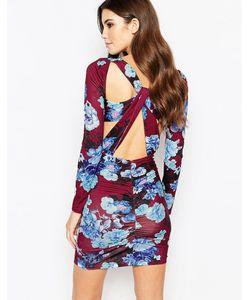 Ginger Fizz | Облегающее Платье С Цветочным Принтом Мульти
