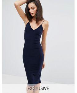 Club L | Платье-Миди С Бретельками Темно-Синий