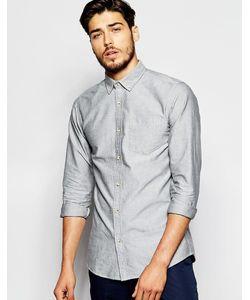 ADPT   Оксфордская Рубашка Классического Кроя Светло-Серый