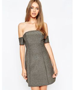 Asos | Блестящее Платье Мини Золотой