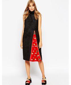ASOS Black   Платье С Воротникомтруба И Декорированной Вставкой A V Robertson For Asos