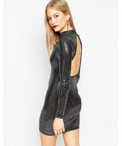 Asos | Облегающее Платье С Вырезом На Спине Disco Ball