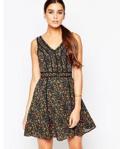 Adelyn Rae | Платье С Цветочным Принтом Зеленый