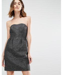 Vila | Платье Бандо Для Выпускного Черный