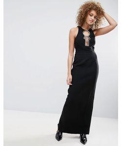 Asos | Платье Макси С Открытой Спиной Черный