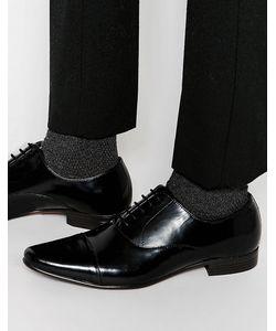 Asos | Кожаные Черные Оксфордские Туфли Со Вставкой На Носке Черный