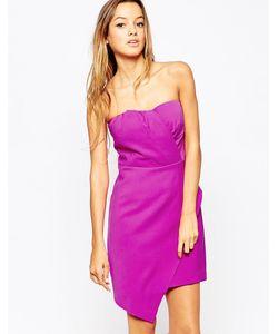 Adelyn Rae | Асимметричное Платье Без Бретелек Розовый