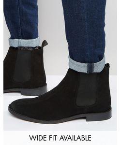 Asos | Замшевые Ботинки Chelsea Черный