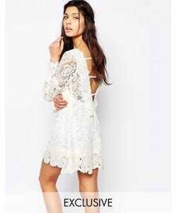 White Sand | Свободное Платье Мини Из Кружева С Открытой Спиной