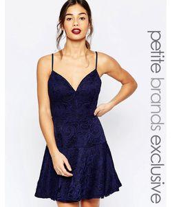John Zack Petite | Кружевное Платье Для Выпускного На Бретельках Темно-Синий
