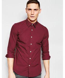 G-Star | Зауженная Рубашка Из Эластичного Поплина Винный