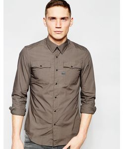 G-Star | Рубашка Слим С 2 Карманами Landoh Карбидный
