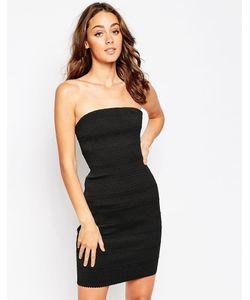 Sistaglam | Облегающее Платье-Бандо Kim Черный