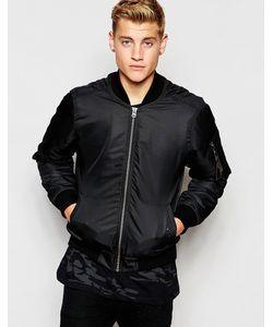 Hoxton Denim | Куртка-Пилот На Камуфляжной Подкладке Черный