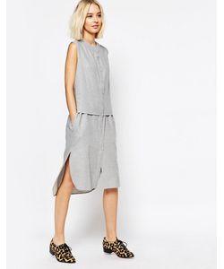 Paisie | Платье-Рубашка Без Рукавов Светло-Серый