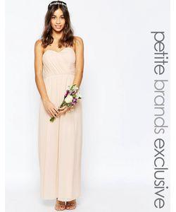 TFNC Petite | Шифоновое Платье Макси В Стиле Бандо Wedding Телесный