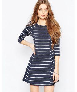 Asos | Короткое Приталенное Платье В Рубчик И Полоску