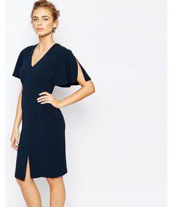 Closet | Платье Миди С Рукавами-Кимоно