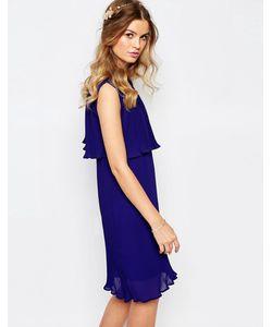 Darccy | Плиссированное Платье Темно-Синий