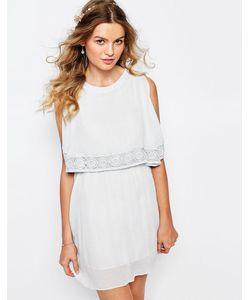 Darccy | Платье Мини С Кружевной Отделкой Синий