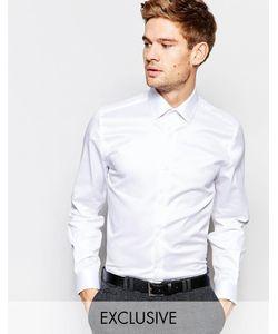 Number Eight Savile Row | Рубашка Скинни С Заостренным Воротником Белый