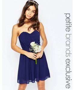 TFNC Petite | Шифоновое Платьебандо Мини Wedding Темно-Синий