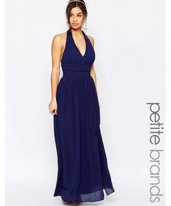 TFNC Petite | Шифоновое Платье Макси С Халтером Wedding Темно-Синий