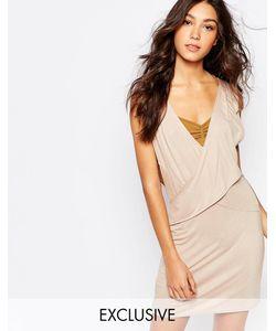 Rokoko | Платье С Глубоким Вырезом И Запахом Спереди Телесный