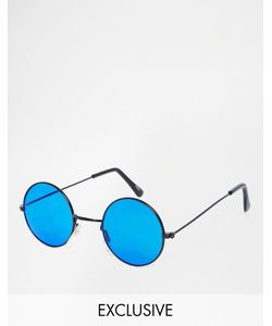 Hindsight Vintage | Круглые Солнцезащитные Очки Kendall Черный