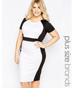 Praslin | Платье-Футляр Размера Плюс С Контрастными Вставками Plus Illusion