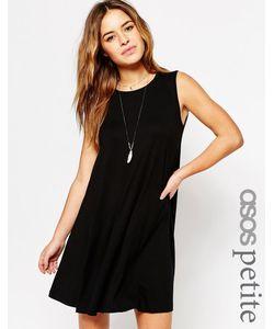 ASOS PETITE | Свободное Платье Без Рукавов Черный